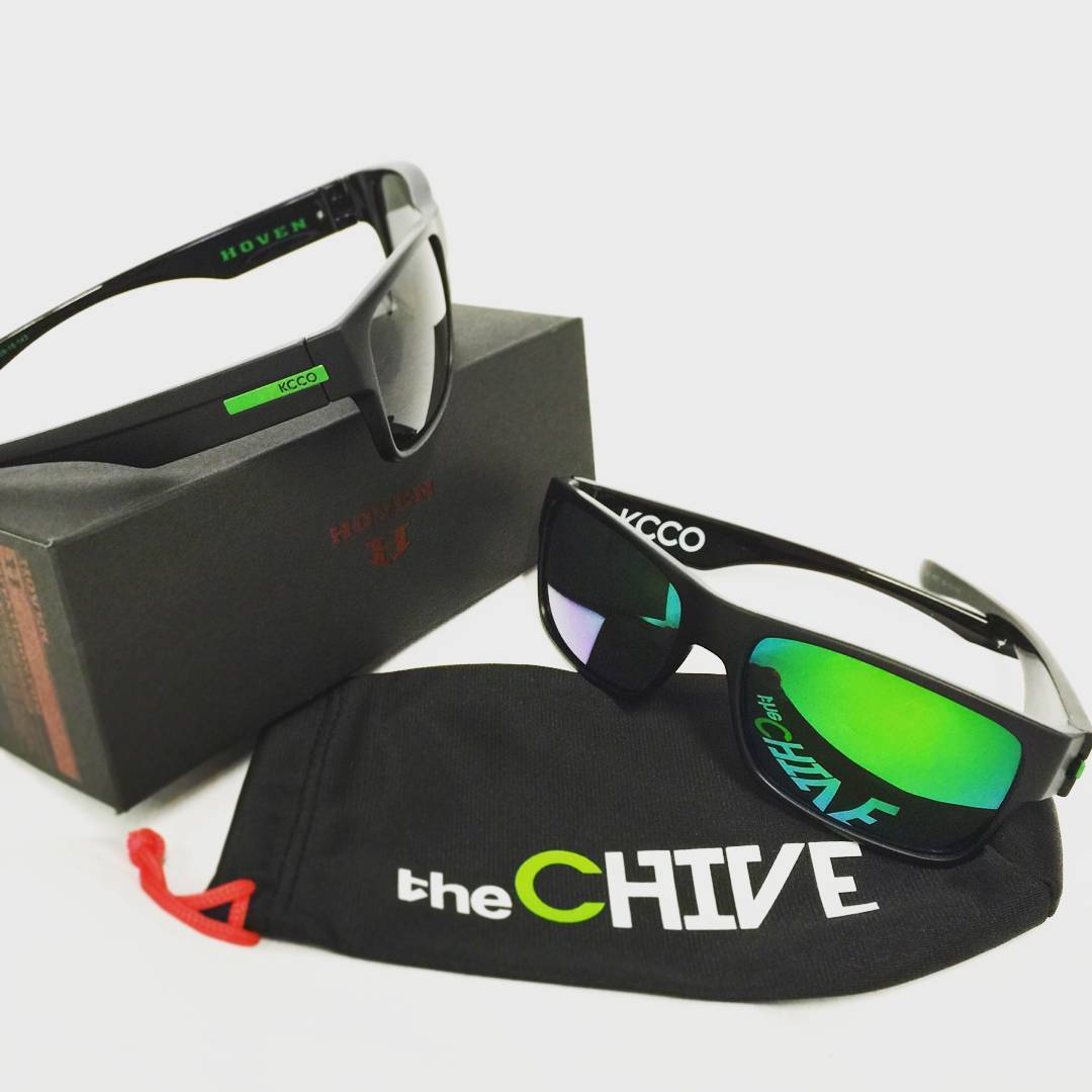 Hoven Family, take this pic, post it, hashtag #thechivery #thechive #chiveonaboat #hovenvision and whoever gets the most likes and comments by tomorrow will win a SICK Chive package from Hoven including this limited edition Chive/Hoven sunglass. Make...