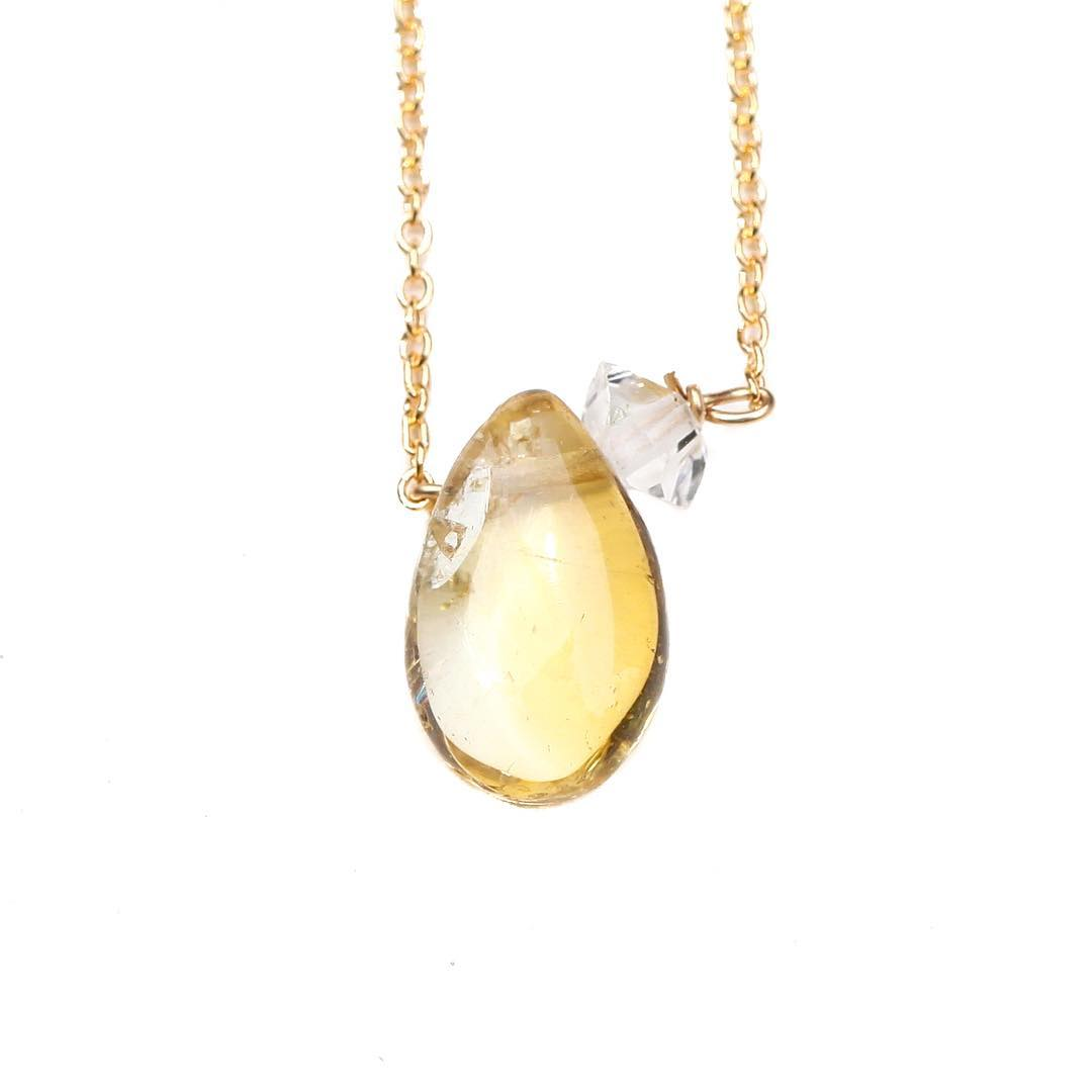 The new satellite styles are an amazing way to include color into your day! Here the Citrine Herkimer Necklace is my personal favorite right now.  #summercolor #fashion #citrine #summerstyle #marin #capestyle #yellow #joy #chakras #yogastyle #gemlove...