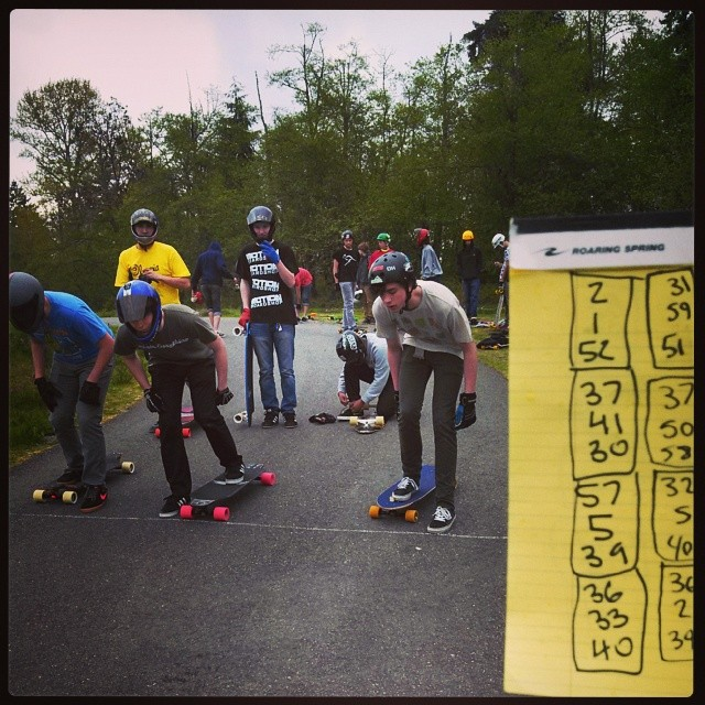 BPA Trail race is underway! #dblongboards #atlastruckco #cloudride #racing #outlaw #bpatrail