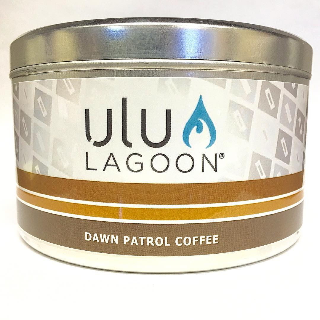NEW Dawn Patrol Coffee is shipping! Available in the 32 oz Two Wick tin (shown) and 6 oz Travel tin. Morning's never smelled so good!