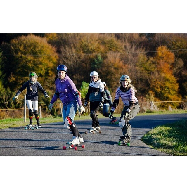 Where are you skating today? #LGC #Germany knows! Yvonne Langner photo #longboardgirlscrew #skatewithyourfriends