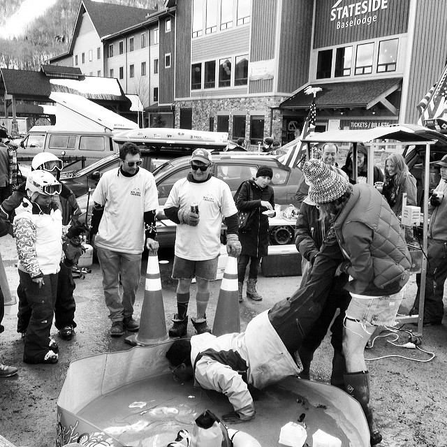 Bobbing for nips at @jaypeakresort #tailgateparty #jaypeak