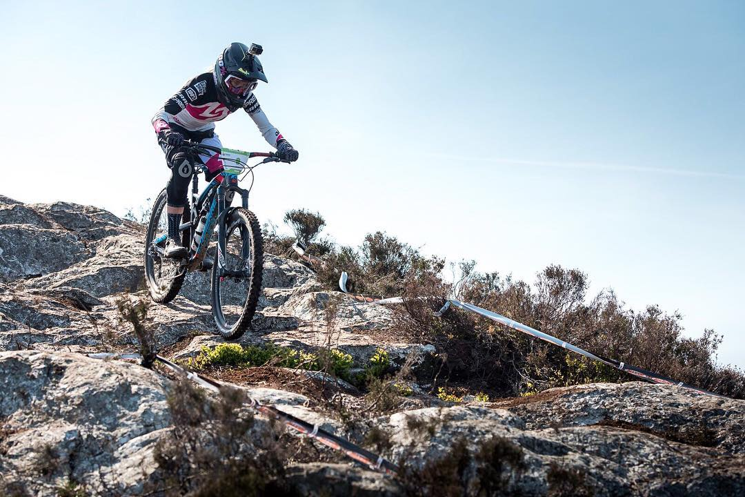 Happy #ShredSaturday folks! We're pumped to see the  @world_enduro  action go down this weekend.  @lapierrebikes  rider  @rae_morrison  getting some practise in on the tricky Irish course ahead of raceday #SixSixOne #661Protection Photo - Dave Trumpore...