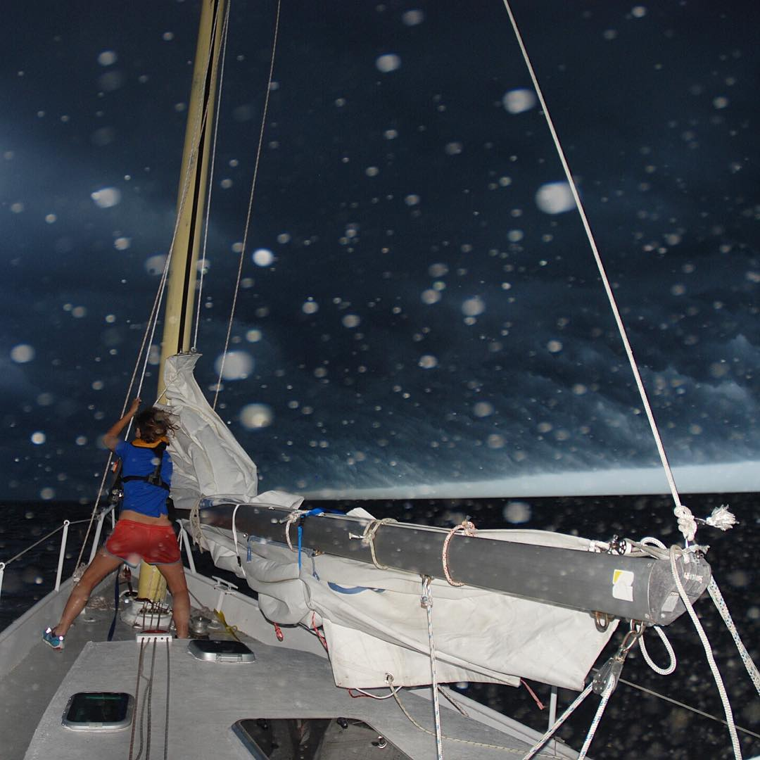 Ever been caught in a surprise #squall? Tell us your story in the comments.  #adventurescientist Nikki Trenholm of Ocean Research Project found herself battling one while sailing across the north Atlantic to #Greenland last year.  If you're taking to...
