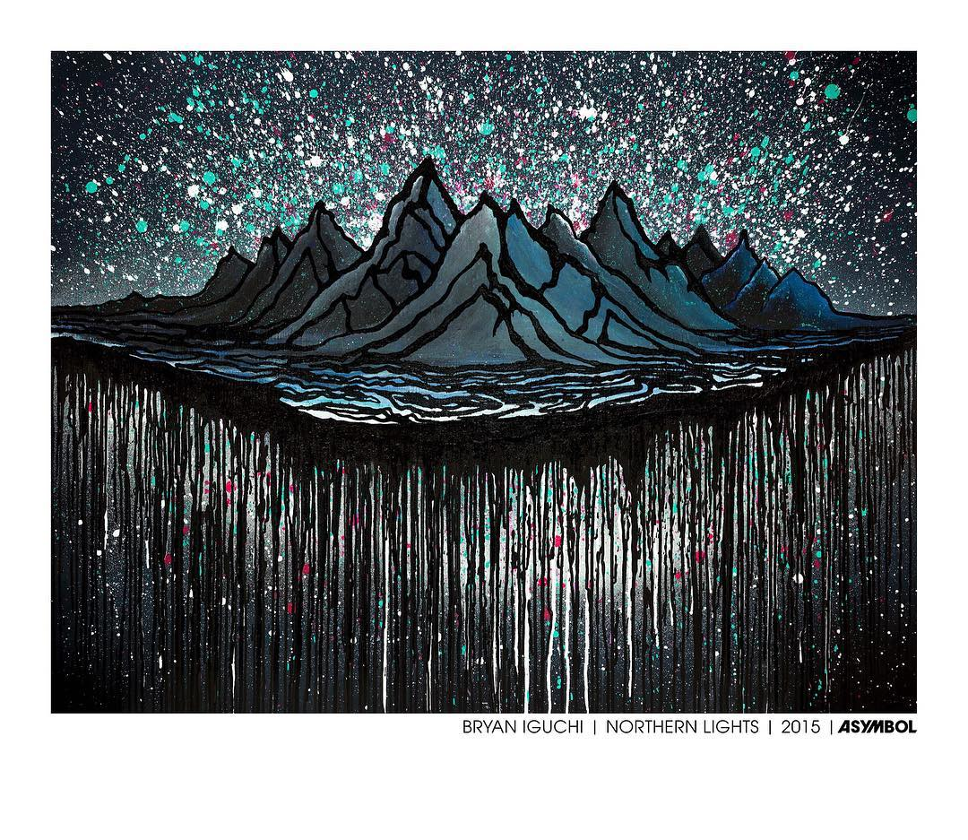 Free @bryaniguchi print offer ends tomorrow! Don't sleep on this one folks. Go here for more info http://bit.ly/1roNmwn.  #asymbol #asymbolart #bryaniguchi #northernlights