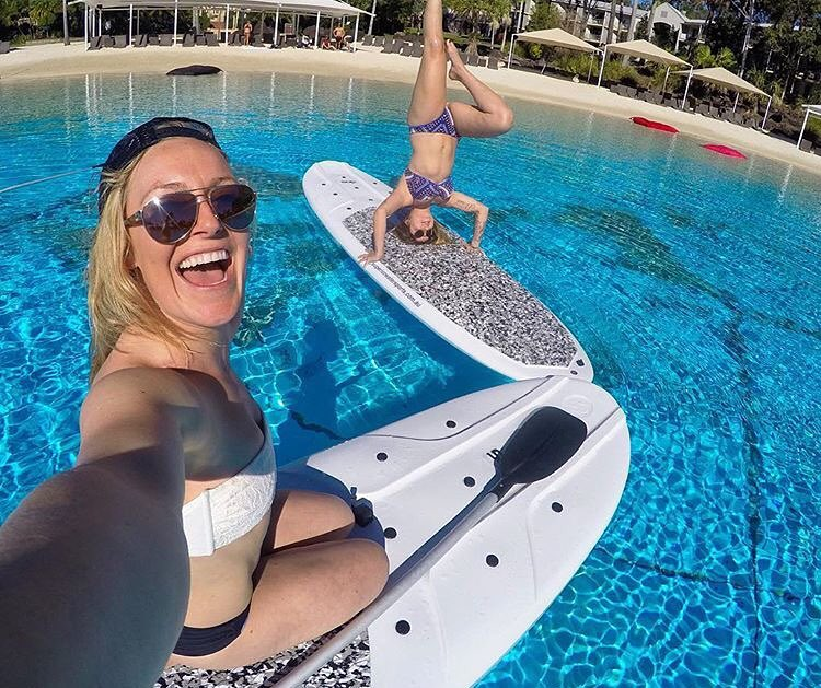 Some Friday #behealthygetactive inspiration from across the globe! B4BC team riders @jamieanderson & @leticiabufoni doing work in Australia for the @gopro Athlete Summit!  photo: @jamieanderson | @gopro