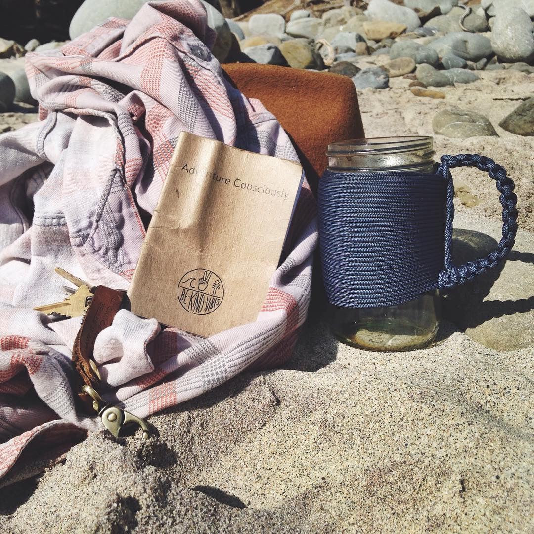 ~ Weekend Wanderer ~  Travel pack for weekend jaunts to the beach, camping in the mountains, or cruising the city streets.  The reusable Adventure Mug and pocket sized Travel Journal. Grab them both in our online shop, adventure consciously and explore...