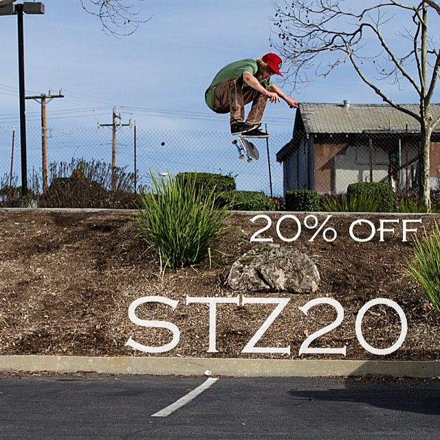 Take advantage of some sales before all the new stuff drops! Promo code: stz20 // www.mystz.com // #stzlife #skateboard #sale #springsummer photo cred: @tylerortonphoto