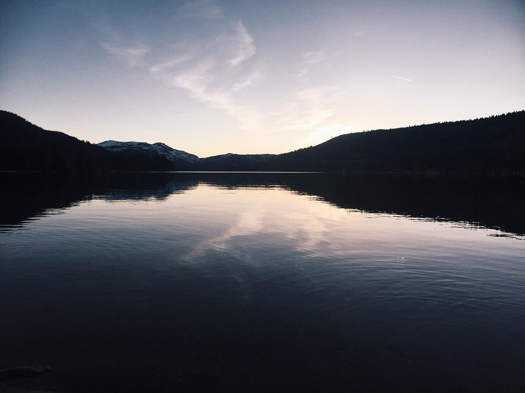 Peaceful Donner Lake ✨ #CA89 #takeapeak