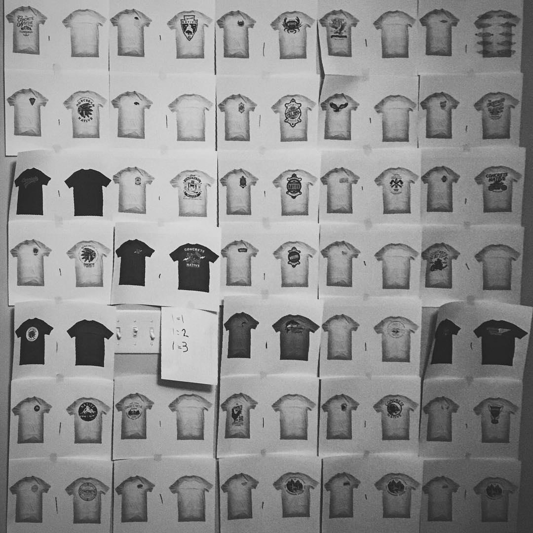 We've got some new stuff in the works... #concretenative #skatelife #sk8life #longboardlife #shirts #bw #newstuff