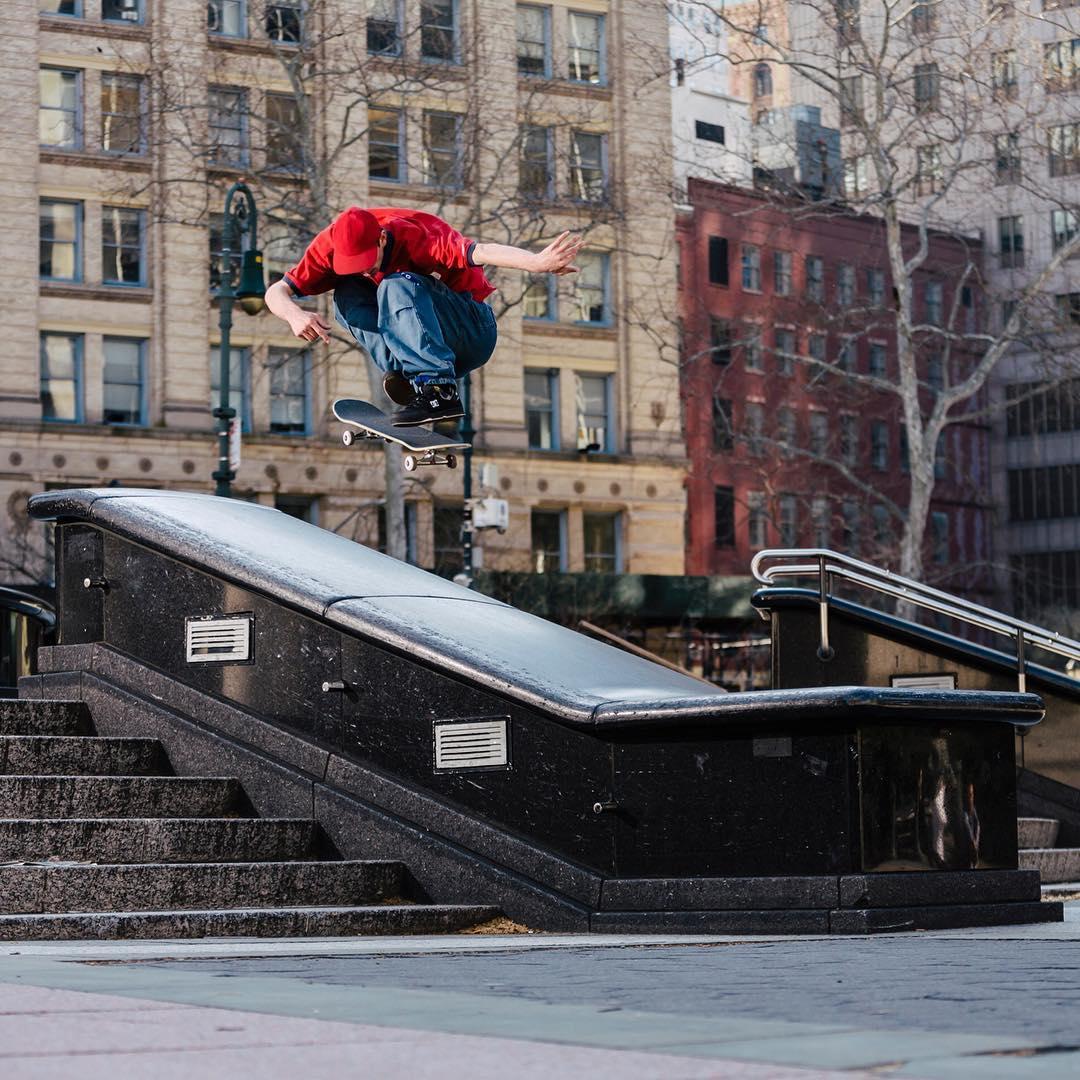 @johnshanahanz, pop shove it over a New York City landmark. Photo: @mikeheikkila #DCShoes