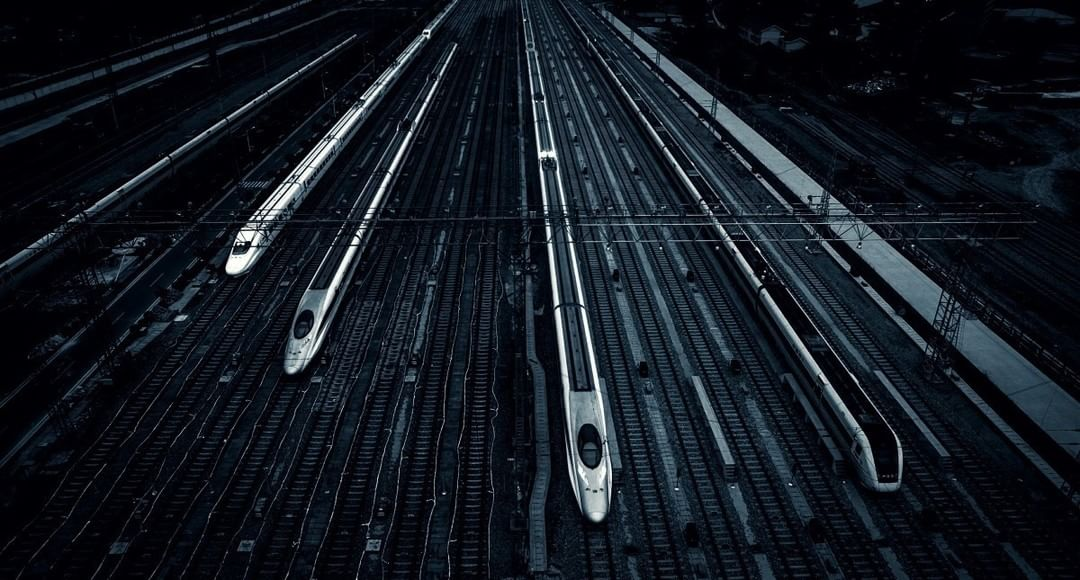 Credit: #SkyPixel user APU for creating the illusion of bullet trains racing to a photo finish