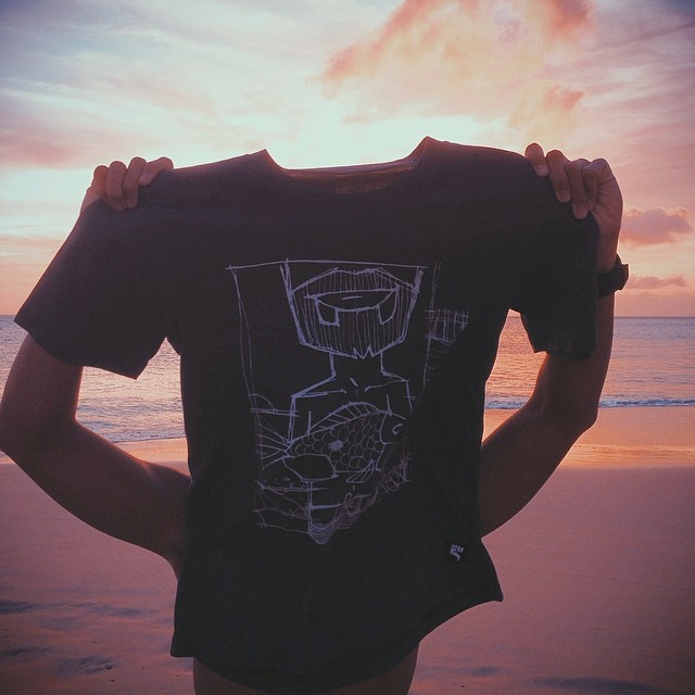 "Salute to the sun with our ""ONO"" by John Culqui! #hawaii #sunset #norepboardshorts"