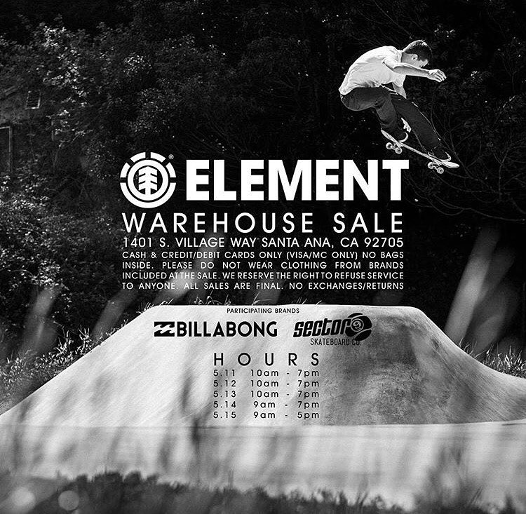 big warehouse sale going down now through Sunday in Santa Ana!