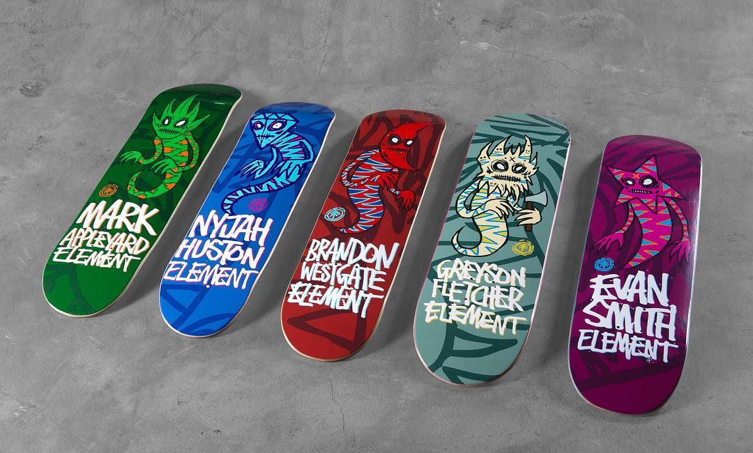 "the iconic handstyle and imaginative creatures by @fosgraphics are featured as the newest ""Sprites"" series now available at skate shops >>> inspired by team riders @mark_appleyard (8.0"") @nyjah (7.6"") @westgatebrandon (7.75"") @greyson_fletcher (8.5"")..."