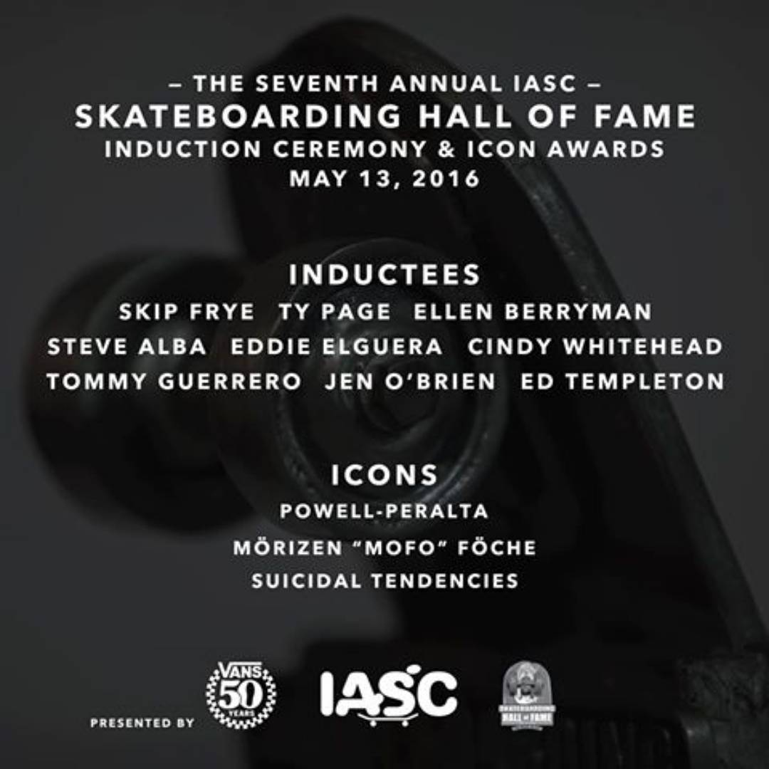 CONGRATULATIONS  to Legends Ellen Berryman, Cindy Whitehead, and Jen O'Brien who will be inducted into the Skateboarding Hall Of Fame TOMORROW! If you would like to know more about these women and how they have contributed to skateboarding, you will...