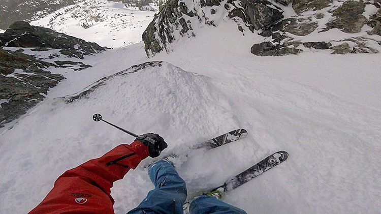 Tight squeeze on the Trigger off this classic 14er @barmski