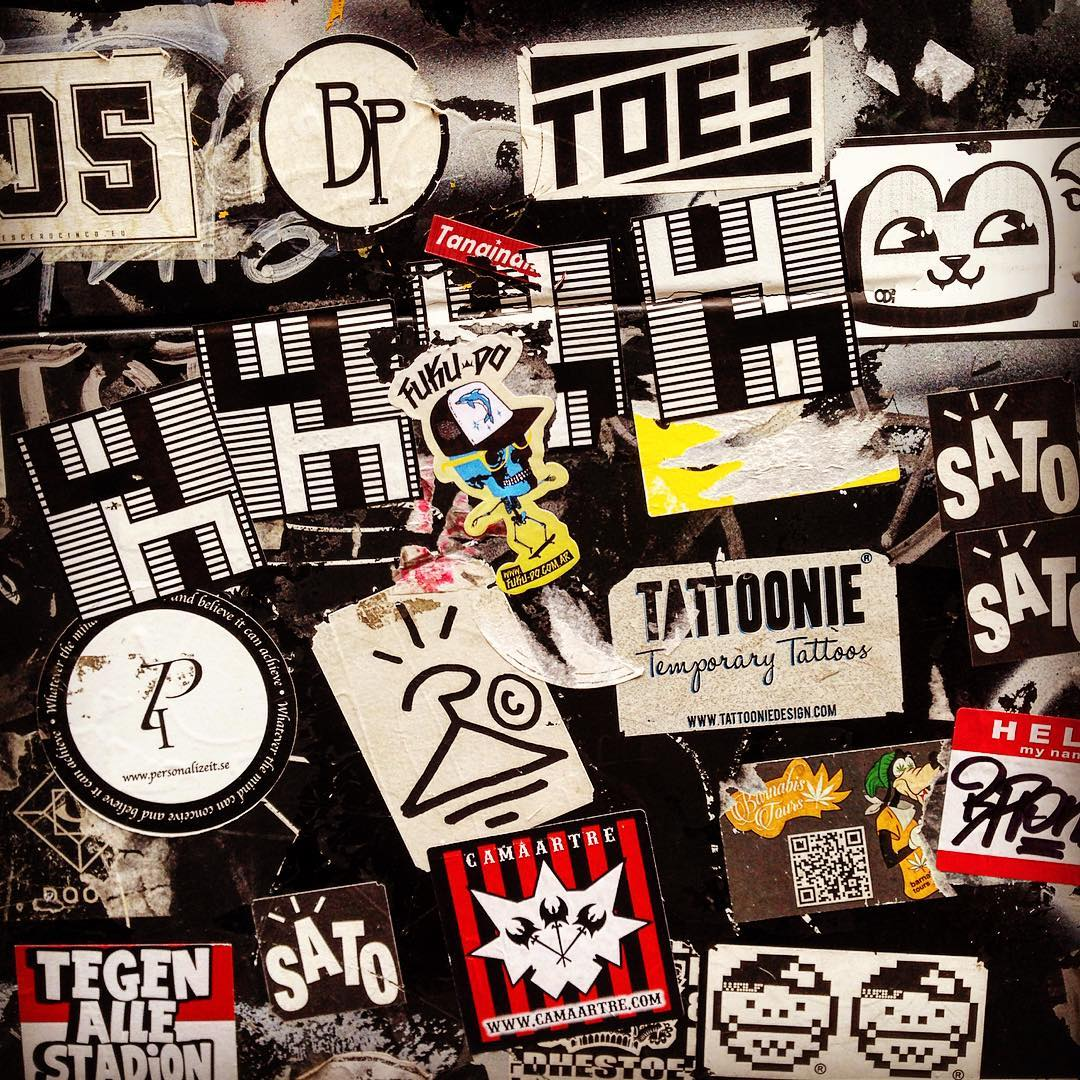Fuku-do #sticker con amigos en #barcelona