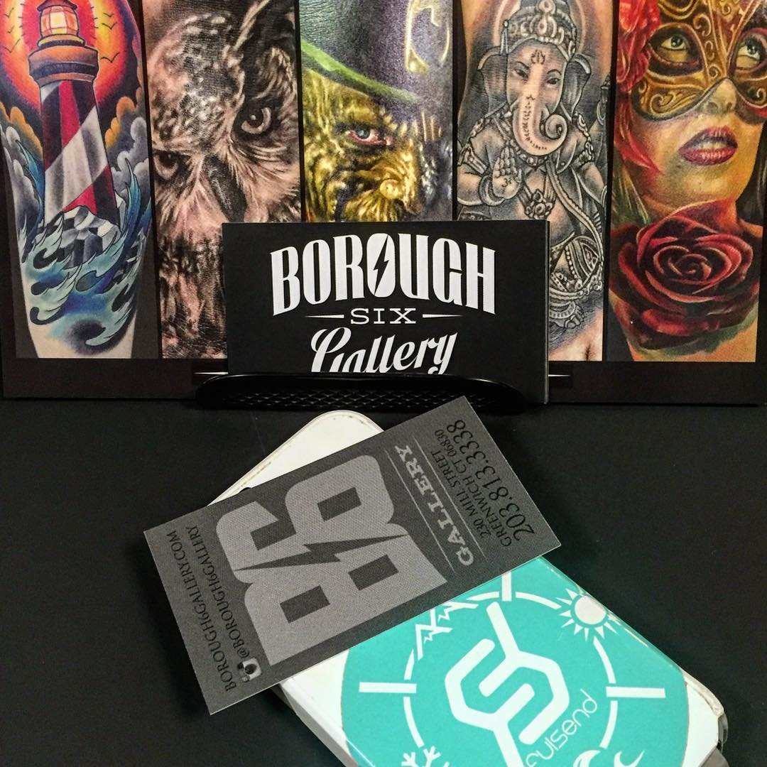 Congrats to @borough6gallery on the Grand Opening! #tattoo #justsendit #ink #tattoos #grandopening #greenwich #surf #wakeboarding #skiing #snowboarding @salonogreenwich @kaylabreee @kateemcneil