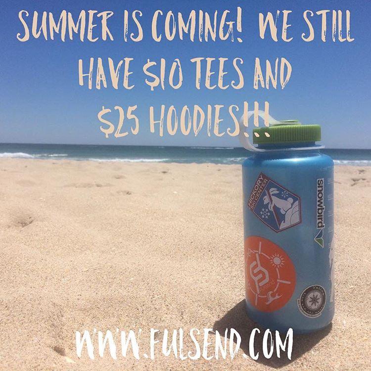 We still have $10 tees & $25 hoodies! #summeriscoming #beach #wakeboarding #surfing #justsendit #beachlife #lakelife #surf @valleybikeandskiwerks @snowbird