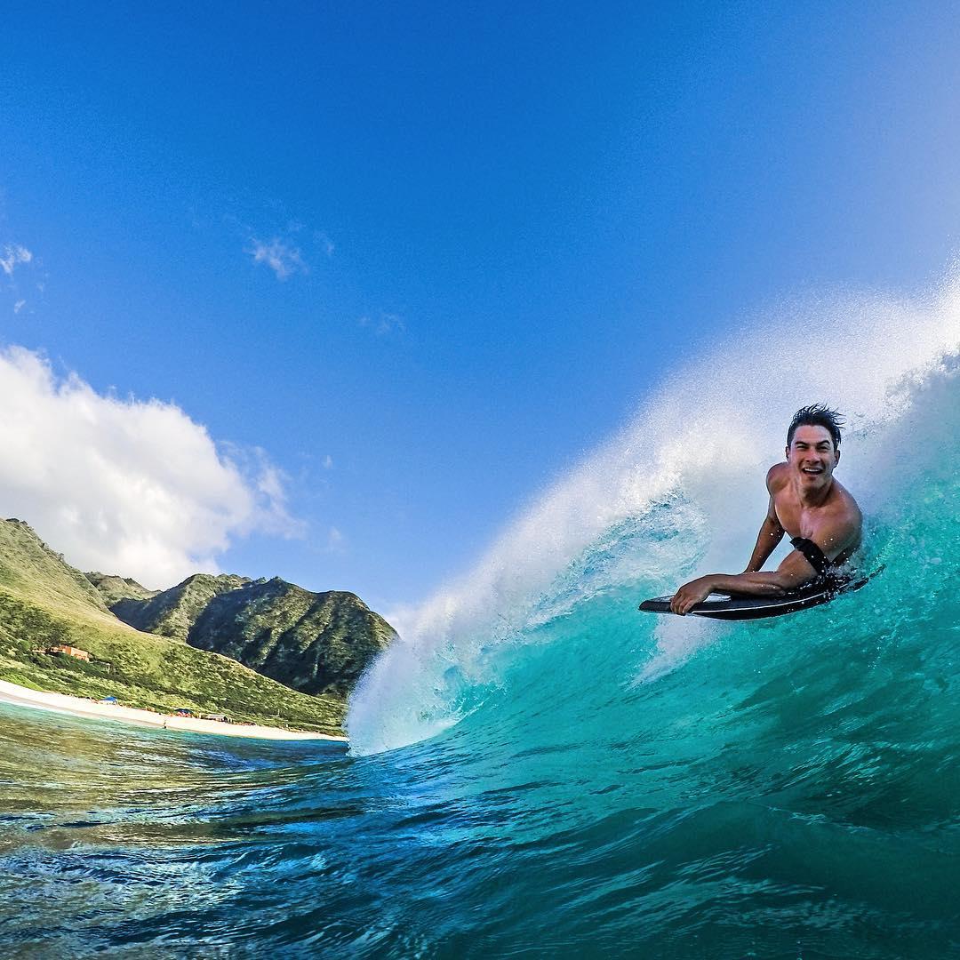 @brandon_finn808 bodyboarding in Hawaii. Photo: @cheetono GoPro HERO4 | GoPole Bobber #gopro #gopole #gopolebobber #hawaii