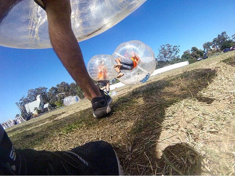 When you pit the worlds best adventure athletes against each other you get #bubblesoccer madness. #