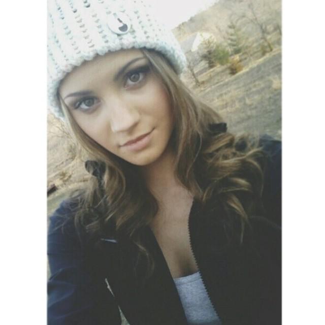 @k_tastyy rockin a hand knitted @frostyheadwear hat. #minnesota #frostyheadwear