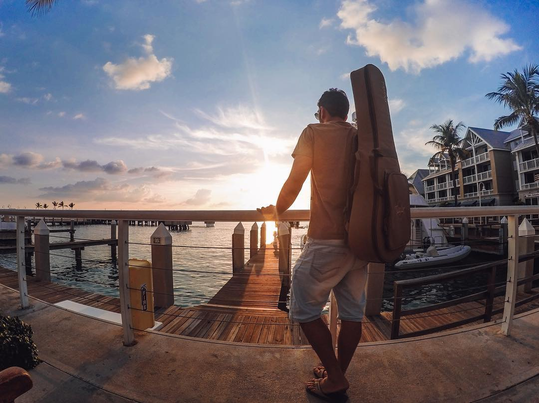 @leoeymard came all the way from #Brazil to enjoy a #KeyWest #sunset on this #TravelTuesday!  Where are you heading next? Share your travels with us via link in bio! #GoPro
