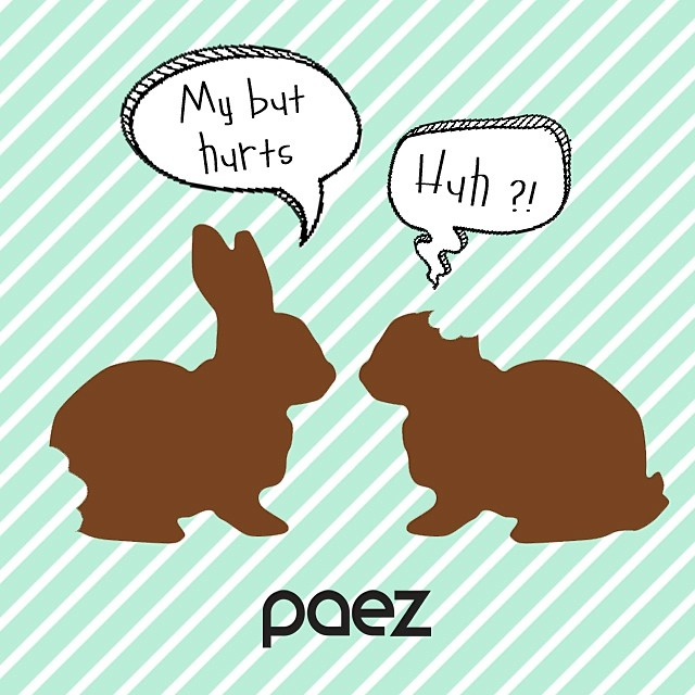 Eat chocolate responsibly! Happy PAEZ Easter #Paez #Easter #Bunnies #Chocolate