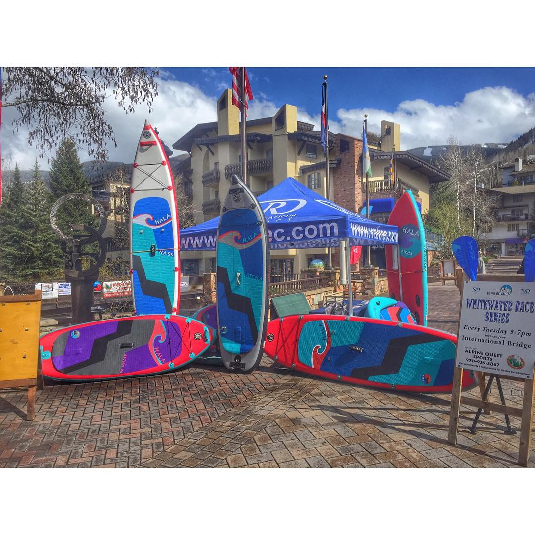 The 1st of the Vail Whitewater Series is today! Come visit the booth and check out the race!
