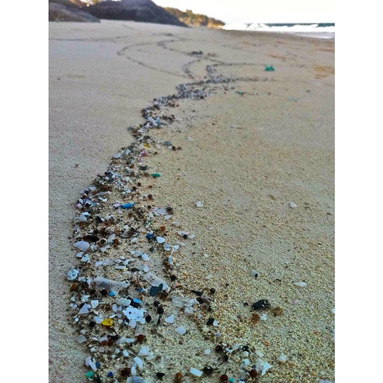 It's beautiful... Until you realize those are pieces of broken down plastic & not little gems from the sea.