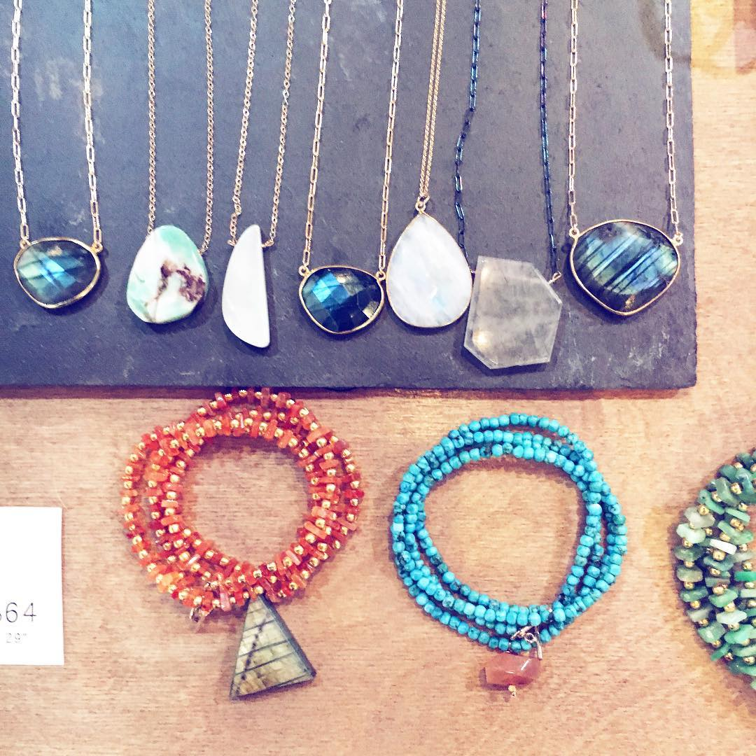 Hey y'all! Come say hi to us at the @renegadecraft Austin, TX! We've brought some amazing one of a kind gemstone pieces and the new Morse Code Charm Necklaces!  #makerfair #maker #renegadecraftfair #austin #keepaustinweired #juliaszendrei #gemstones...