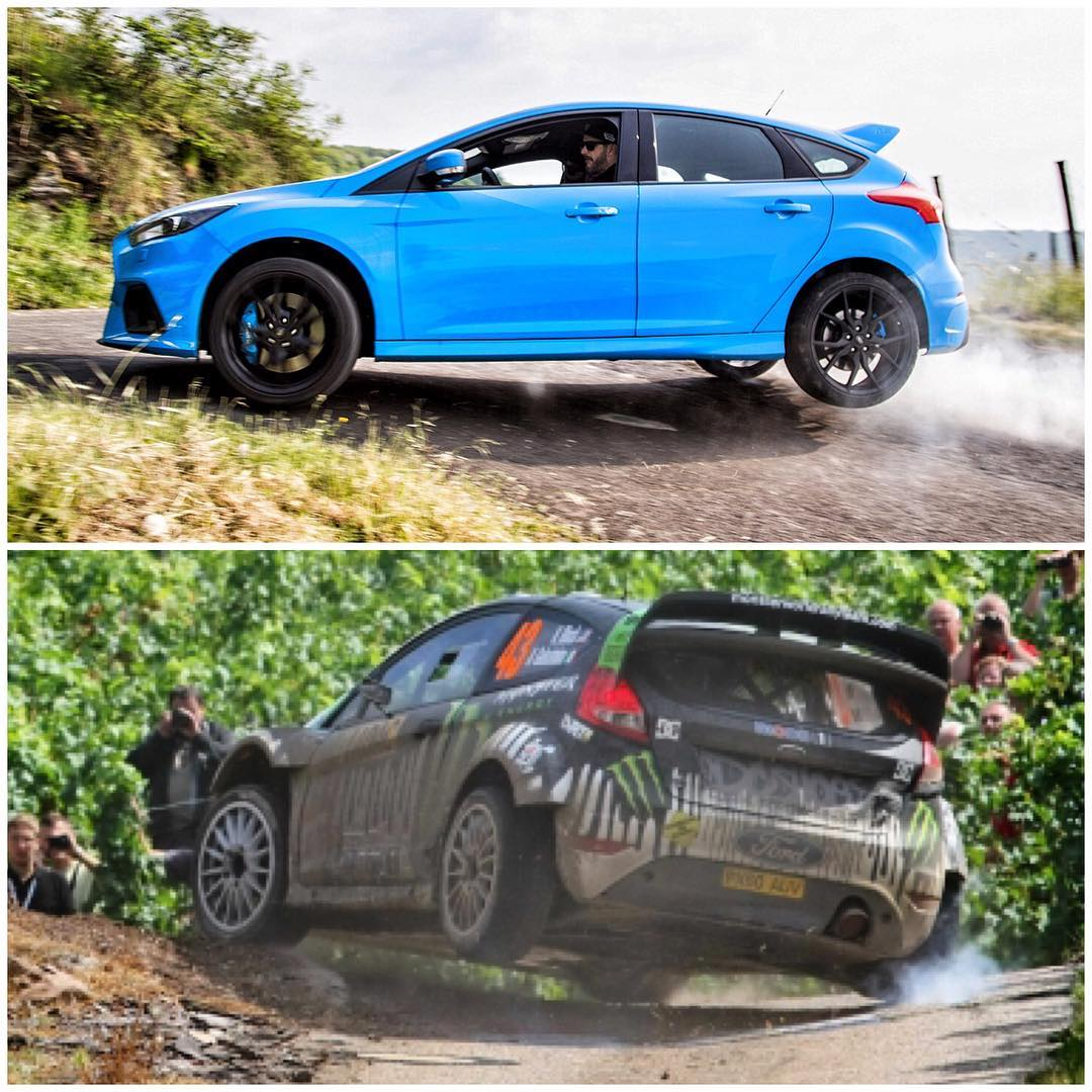 A few of the vineyard hairpins in WRC Germany have some very dramatic elevation changes. That means hitting that three wheel motion sometimes. Did my best WRC car impression yesterday on one of the race's hairpins in this 2016 Ford Focus RS! Bottom...