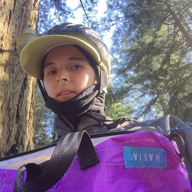 Starting #biketoworkday2016 trip, from redwood forest to downtown SF, with new reworked messenger, Day Runner. *hi, everybody, I'm a new designer at Mafia, Kseniia* stay tuned to see if I will make this 30 miles today)