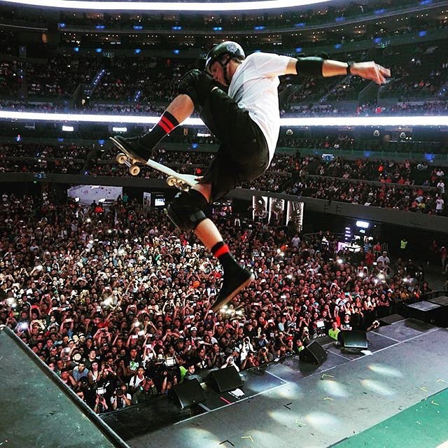Special thanks to @TonyHawk and friends for putting on an insane show at the Nixon Vertical Tour in Mexico City.
