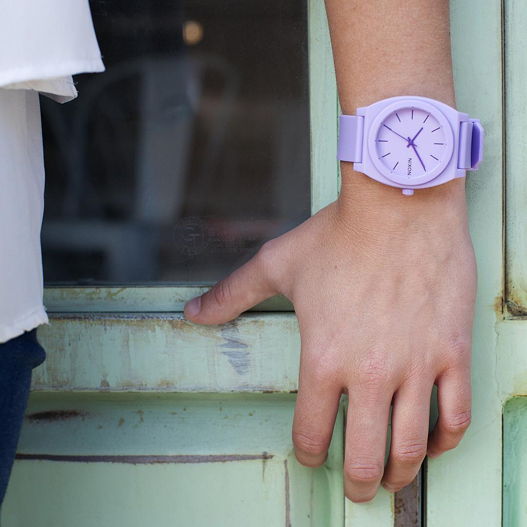 V is for Violet. Just one of the hues in our all-new #HyperPastel collection. #Nixon