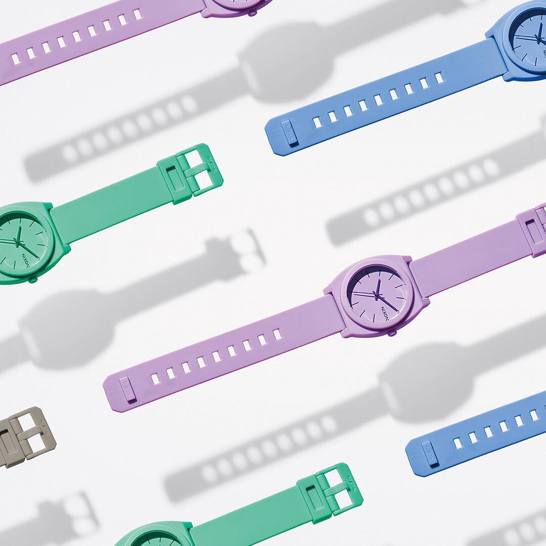 Our take on pastels. Just the right amount of pretty. #HyperPastel #Nixon