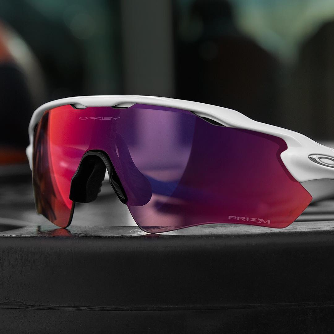 The road's never looked so good.  Take #OakleyRadarEV with #OakleyPrizm Road lenses for a ride.