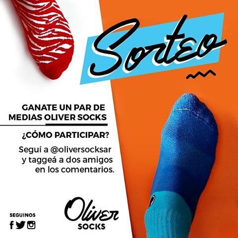 ¡Hay #Sorteo en Oliver Socks! ¿Querés ganarte un par de medias?  Fácil: Seguí a @oliversocksar y taggeá a dos amigos en los comentarios. ¡Listo! Ya estás participando. ¡A cruzar los dedos y los pies! . . #Oliver #OliverSocks #Medias #Socks #Premio...