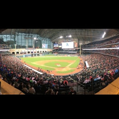 Here's the crowd for J.J. Watt's charity softball game at Minute Maid Park. This is the first year it's in a major league park. He used to sell out the minor league park that previously hosted this event, so it required a change. AMAZING event by an...