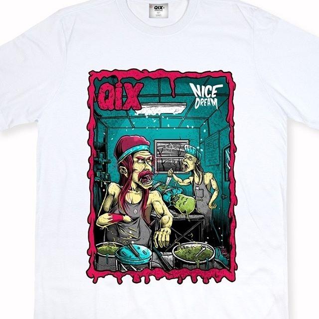 Camiseta Qix Nice Dream: As camisetas foram desenvolvidas com estampas de personagens da época para ressaltar o style vintage ➡ Garanta já a sua em: QIX.COM.BR ou nas lojas revendedoras em todo o país  #Qix #StreetStyle #Skate #Lifestyle