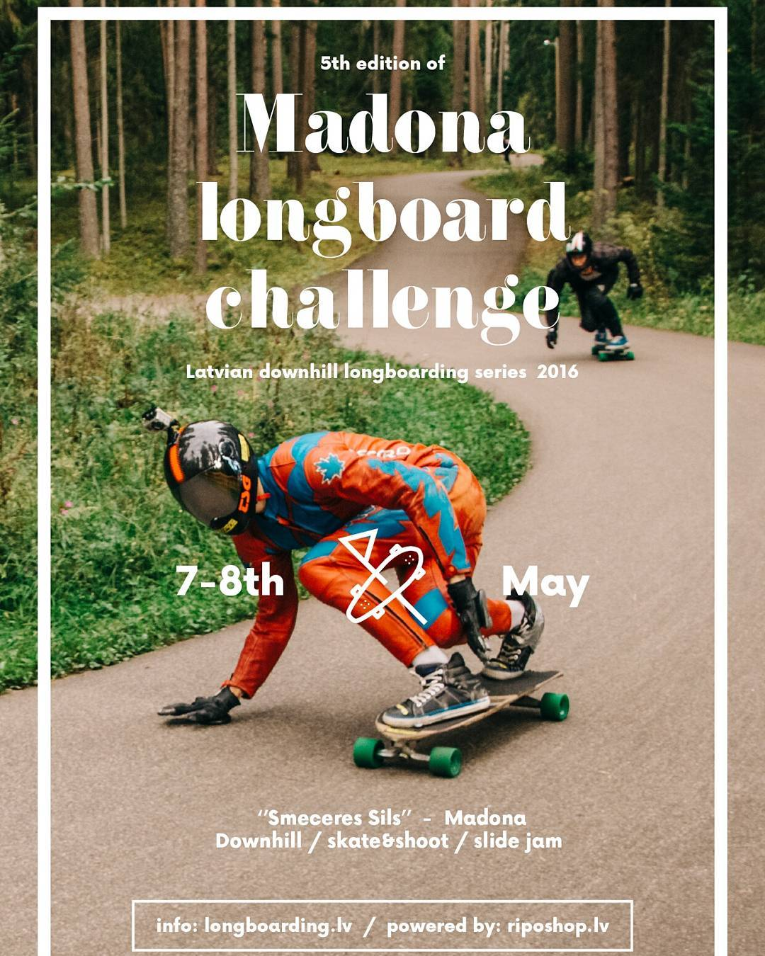 The first event in the Latvian Downhill Longboarding series has begun with a hit with the 5th year of the Madona.  Next race of Latvian downhill longboarding series will happen on 4-5th June and will be held in Cēsis Olympic center ''Priekuļi''. Check...
