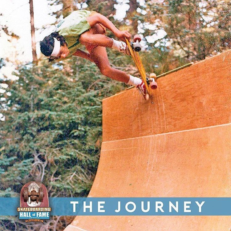 Check out @eddieelguera for the story behind this photo from 1977 . El Gato will be inducted into the @skateboardinghalloffame this weekend ! #skateboardinghalloffame #prehistoricvertramp #1977 #roots #legends #skateinspiration #eddieelguera  Eddie...