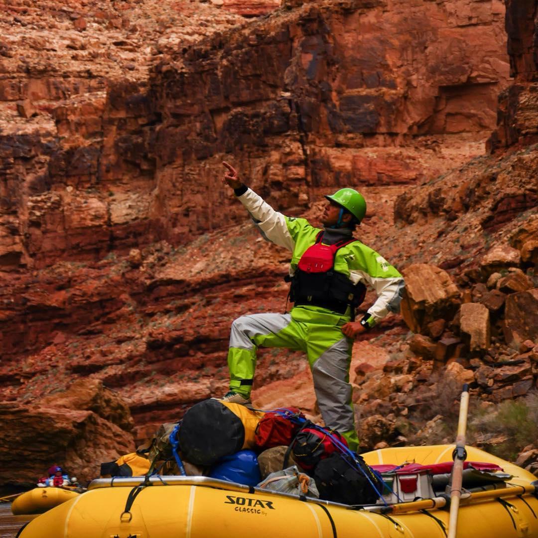 Rodrigo Tushner going green on the Grand Canyon. #cuzrockshurt #shredready #arizona @watershed_drybags @immersionresearch