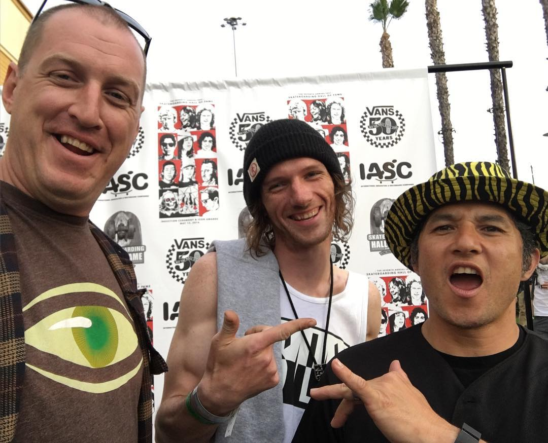 @swells kickin it with @christianhosoi  at #SkateboardingHallOfFameinductionceremony | #OrangeCA | #weareok | #smokinsnowboards