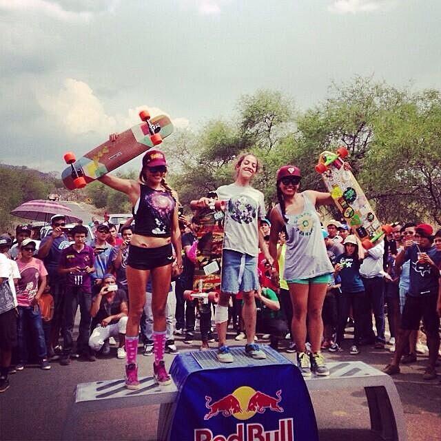 Mexico's #LagunaDH2014 podium!  1. Valeria Figueroa  2. Liz Flores  3. Flor Fernández Congrats girls! #longboardgirlscrew