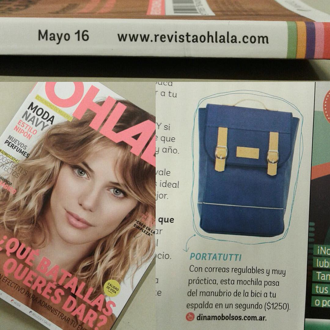 PORTATUTTI, así definieron en @revistaohlala a nuestra mochila Agronomía! #bag #cyclechic #ohlala #magazine