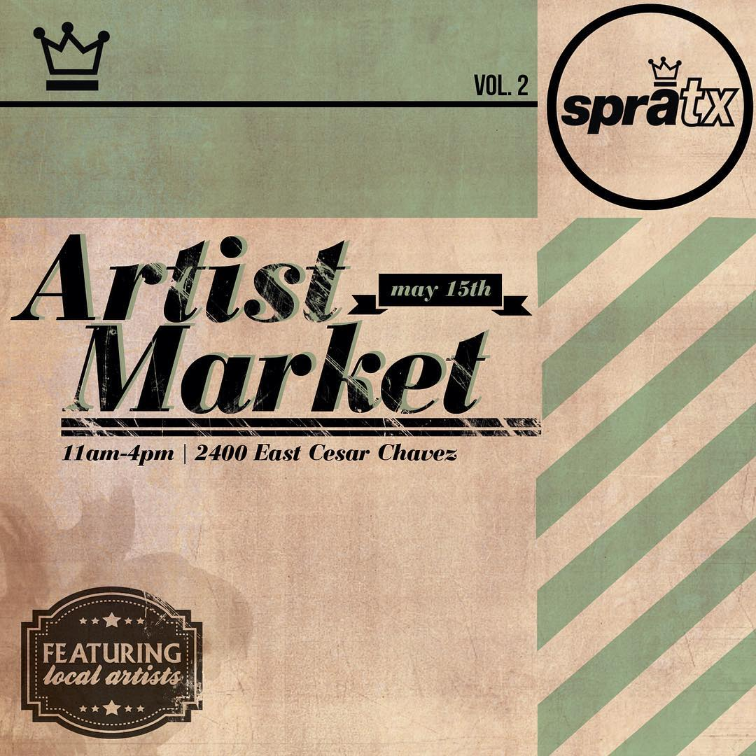 Today! 11am to 4pm rain or shine! We are excited to have all of these great artists with us for the 2nd SprATX Artists Market! 2400 east Cesar Chavez unit...