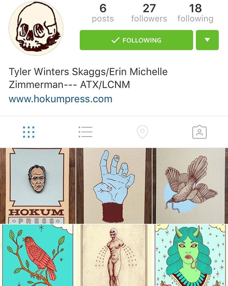 Follow @hokumpress if you love finding new ATX artist! • • #atx #austintx #texas #tx #spratx #art #supportlocalatx