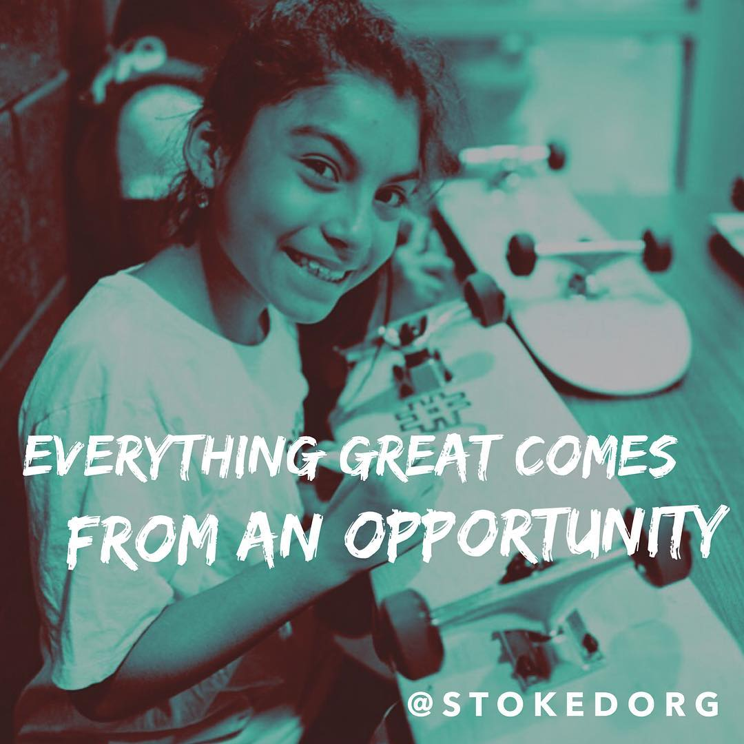 Everything great comes from an opportunity. Who gave you an opportunity?